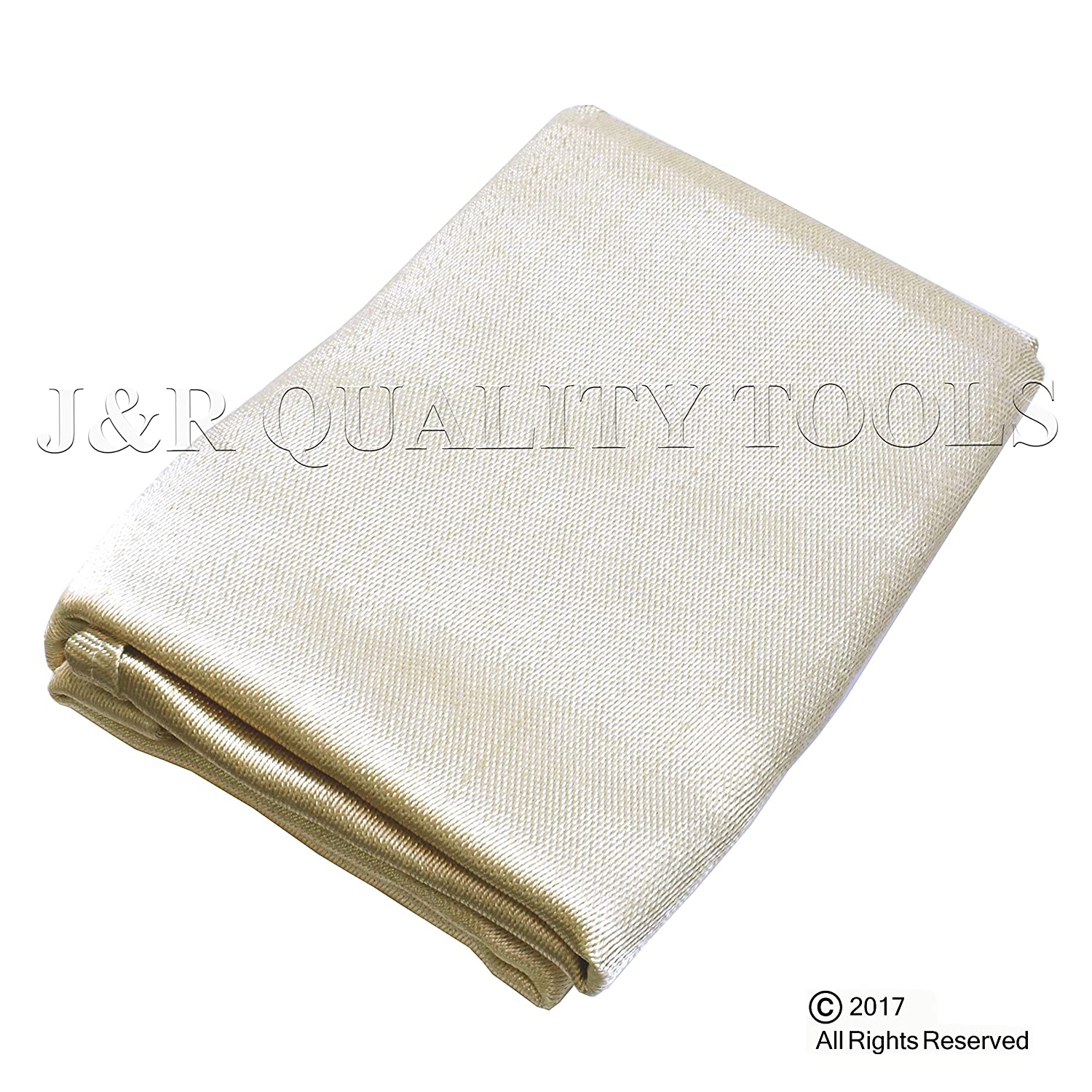 VCT Heavy Duty Fiberglass Welding Blanket and Cover with Brass Grommets Size 4 FT. x 6 FT. J&R Quality Tools