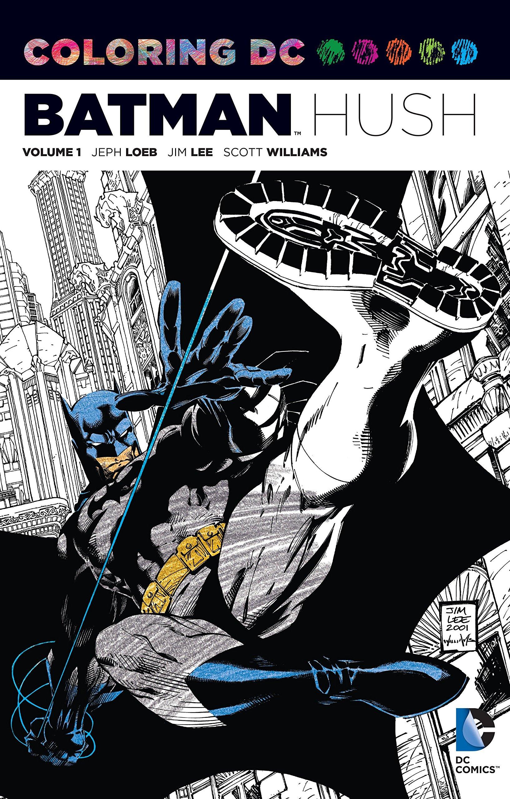 Amazon.com: Coloring DC: Batman-Hush Vol. 1 (Dc Comics Coloring Book ...