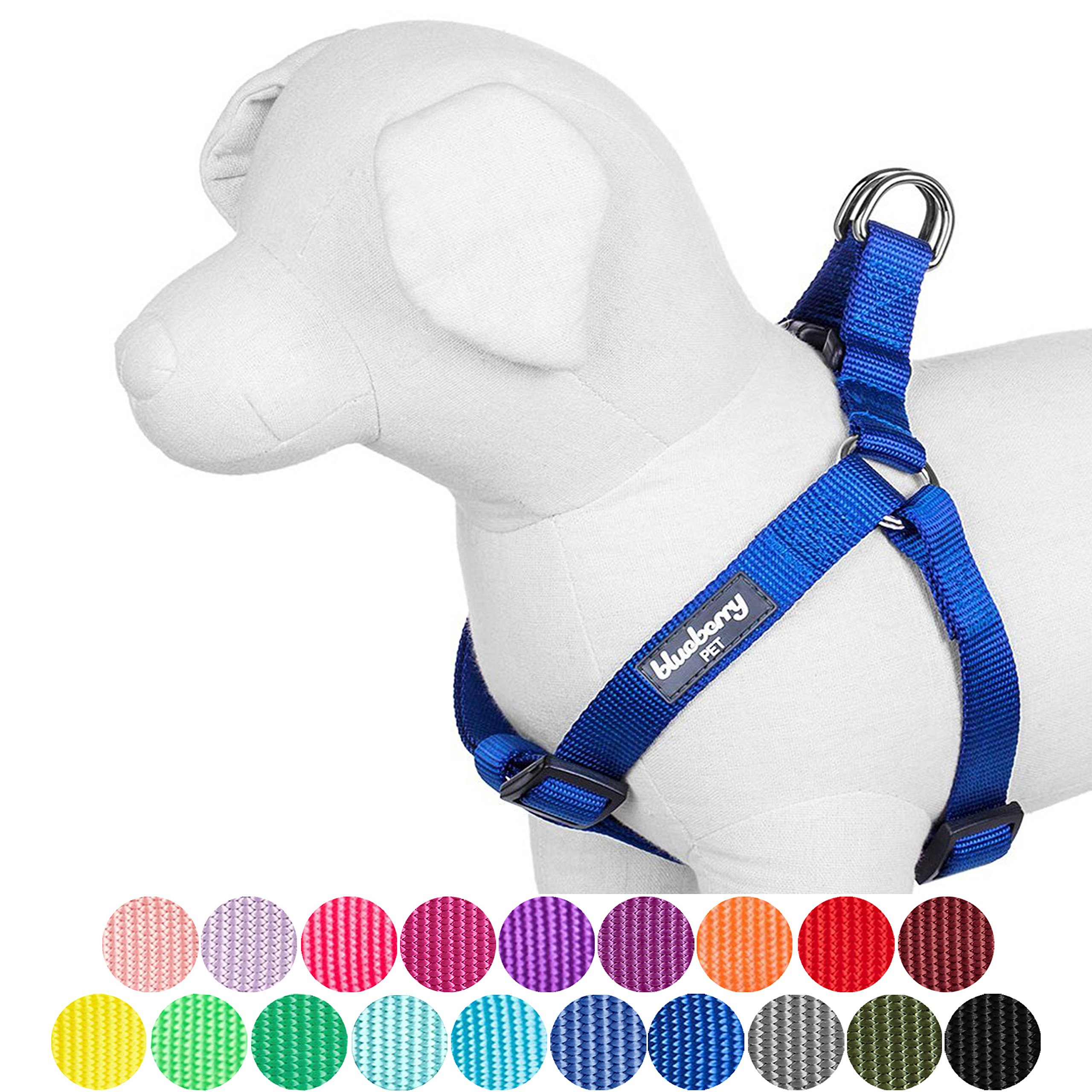 Blueberry Pet 19 Colors Step-in Classic Dog Harness, Chest Girth 20'' - 26'', Royal Blue, Medium, Adjustable Harnesses for Dogs