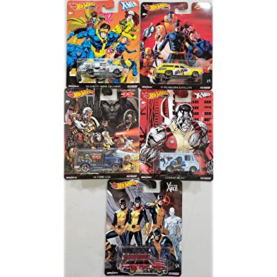 Hot Wheels 2020 Pop Culture Real Riders X-Men Xmen Complete Set of 5 Diecast Cars: Toys & Games