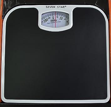 SevenStar Mechanical Bathroom Scale (Black)