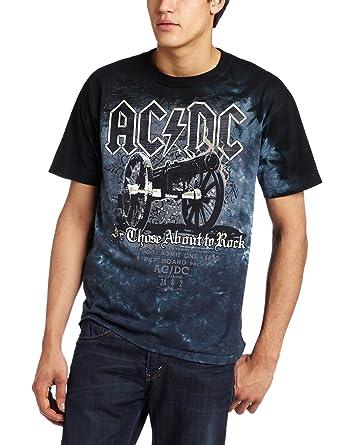 87de0cefb83 Amazon.com  Liquid Blue Men s AC DC Cannon T-Shirt  Clothing