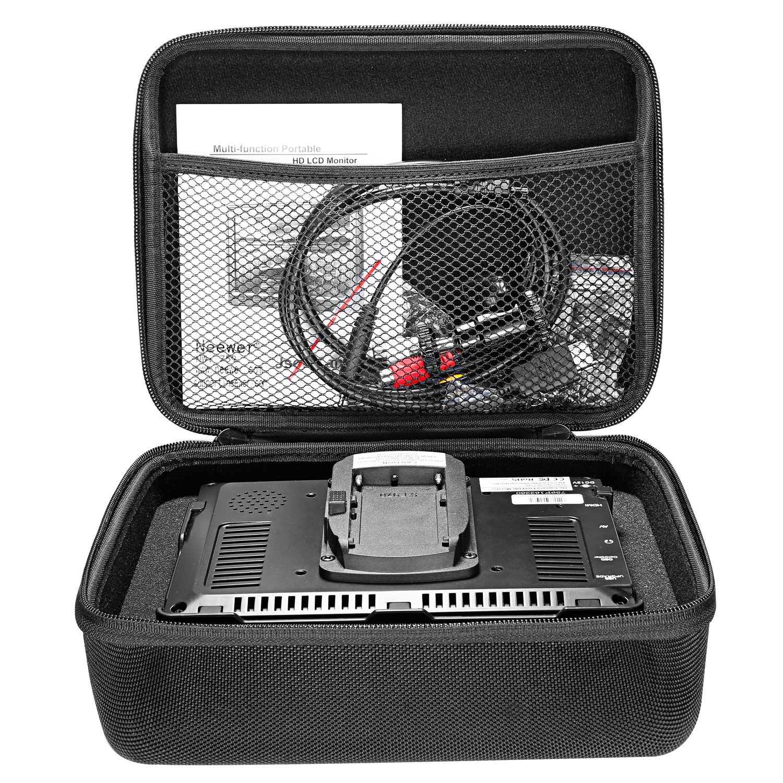 7 C/ámara Monitor Campo Kit:1280x800 IPS Monitor Pantalla 16:10 4:3 Relaci/ón Pantalla Ajustable con Almacenamiento Funda Transporte para Nikon Sony Canon Olympus Neewer NW759 C