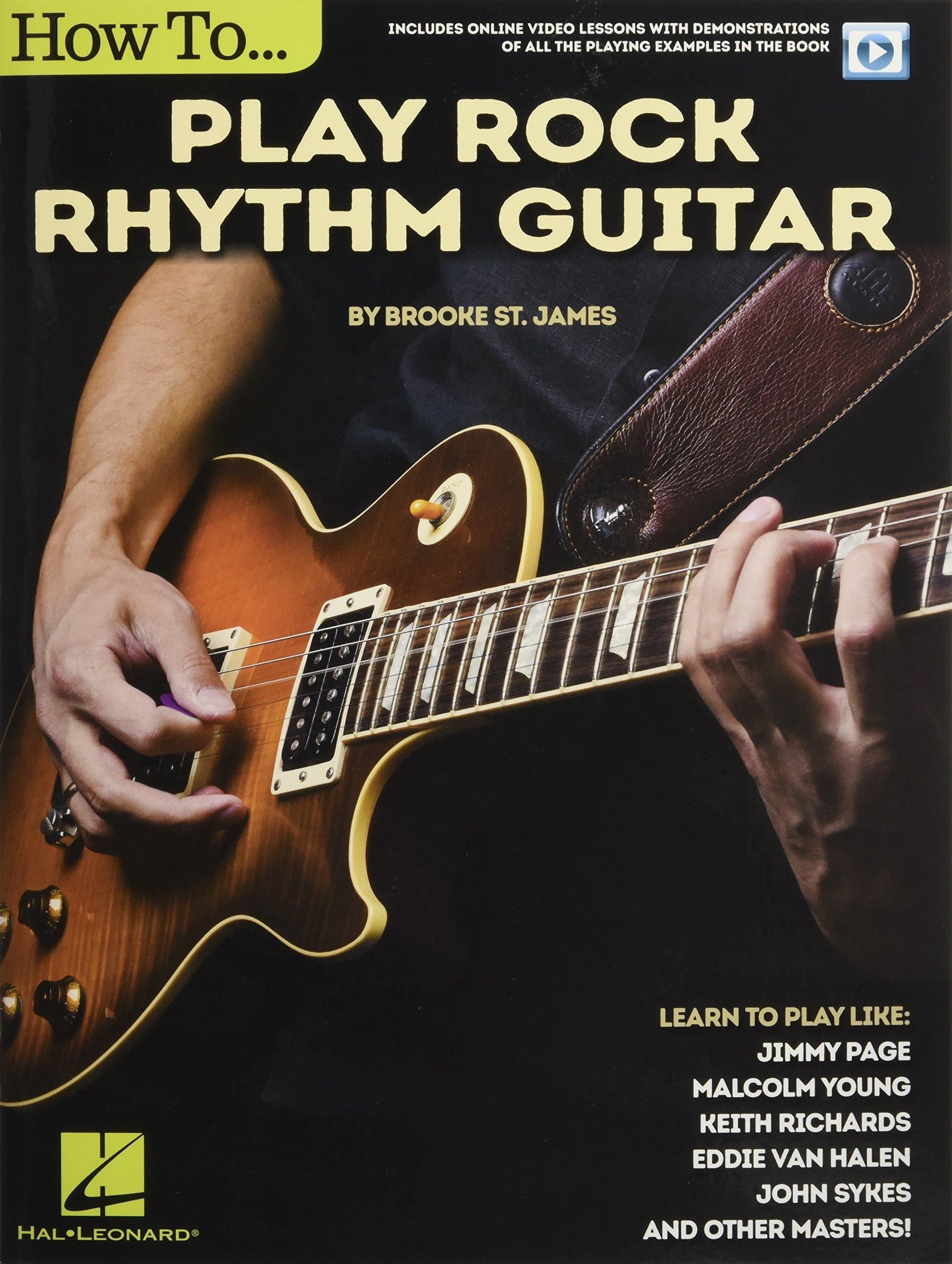 Brooke St. James: How To Play Rock Rhythm Guitar Book/Online Video ...