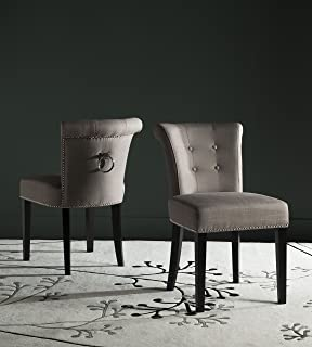 Safavieh Mercer Collection Sinclair Oyster Espresso Ring Dining Chair (Set  Of 2)
