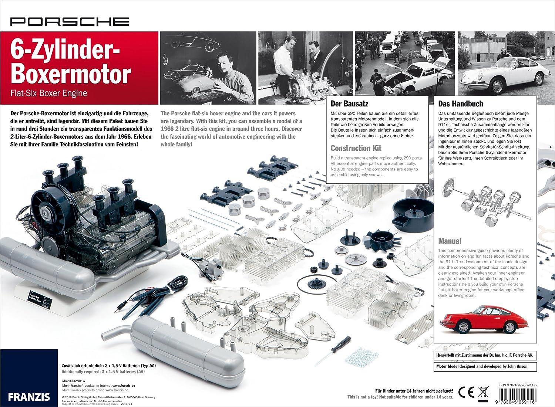 Cbl Distribution Limited Porsche Flat Six Boxer Engine Boxster Vacuum Diagram Model Kit Franzis Verlag Toys Games
