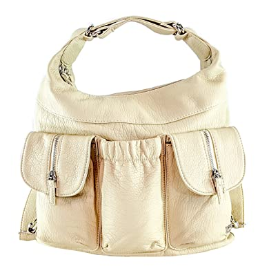 9cceed416 Amazon.com: Purse King Butterfly Convertible Purse (Backpack and Shoulder  Bag) in Soft Vegan Leather (Beige): Shoes
