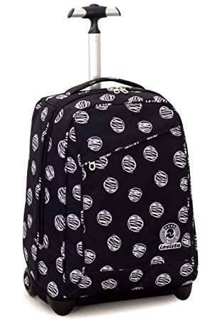 94757cb4ae Trolley Invicta , DUFFY , Black , 35 Lt , 2in1 Wheeled Backpack , School &  Travel: Amazon.co.uk: Luggage
