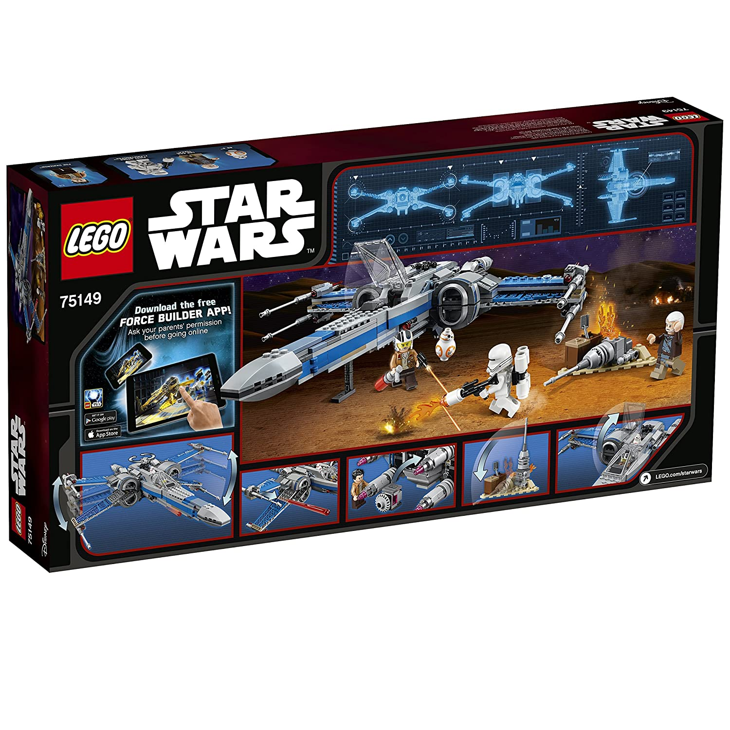 LEGO Star Wars 75149   Resistance X Wing Fighter: Amazon.de: Spielzeug