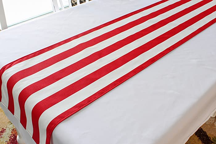 Red And White Striped Table Runner