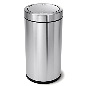 simplehuman swing top trash can commercial grade stainless steel 55 l 145