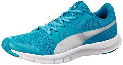 0c454768f0b9 Image Unavailable. Image not available for. Colour  Puma Boy s Flexracer Jr  Idp Blue Danube Silver Sneakers