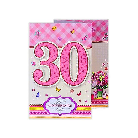 afie 882128 a tarjeta 3 Volets cumpleaños 30 años: Amazon.es ...