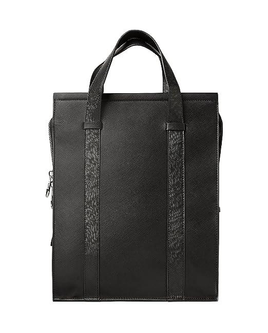 31ae78458c Zara Men Smart black convertible tote bag 3301/305 (Medium): Amazon ...
