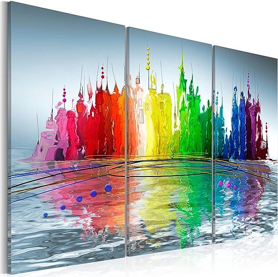 murando Quadro 60x40 cm 3 Pezzi Stampa su Tela in TNT XXL Immagini Moderni Murale Fotografia Grafica Decorazione da Parete Astratto 020101-126