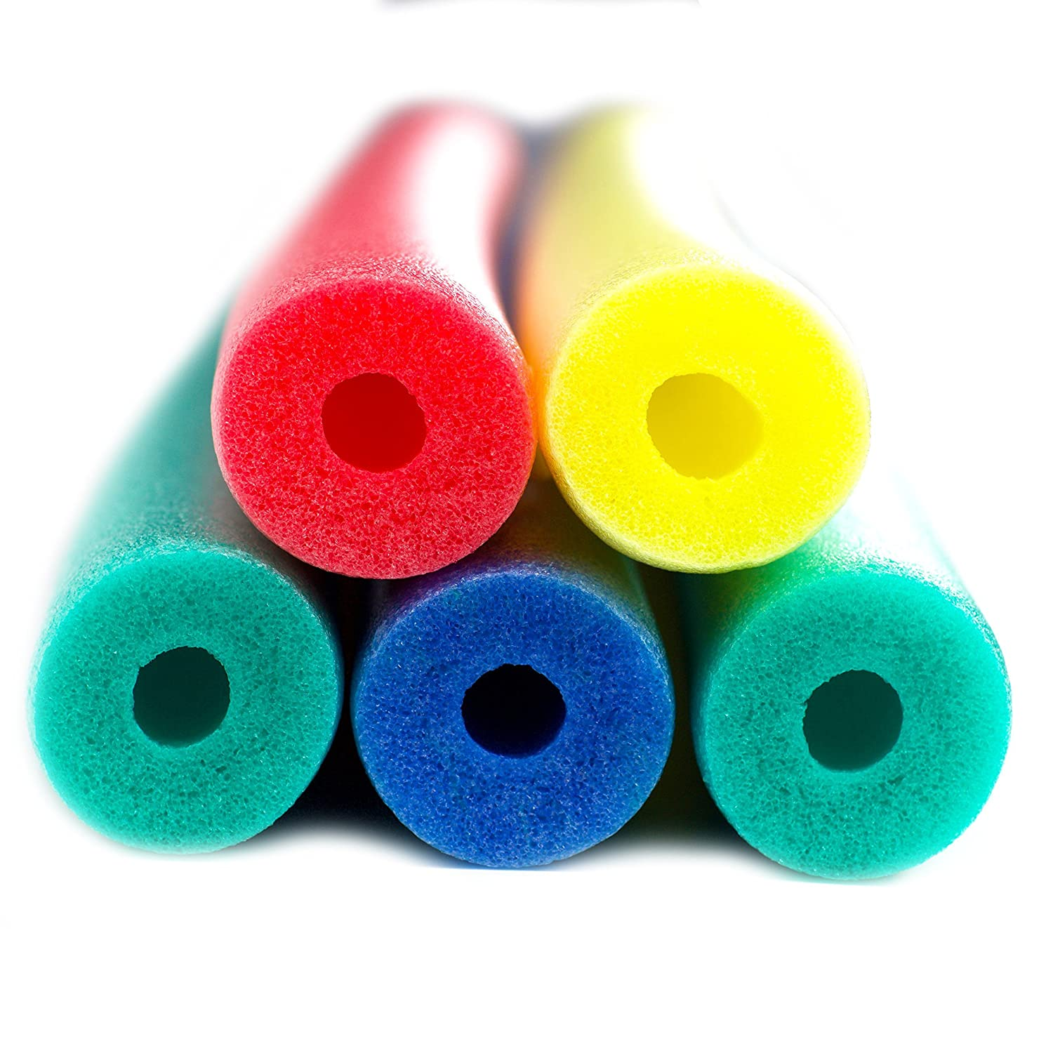 Amazon 5 pack of 52 inch flexible colorful foam pool noodles