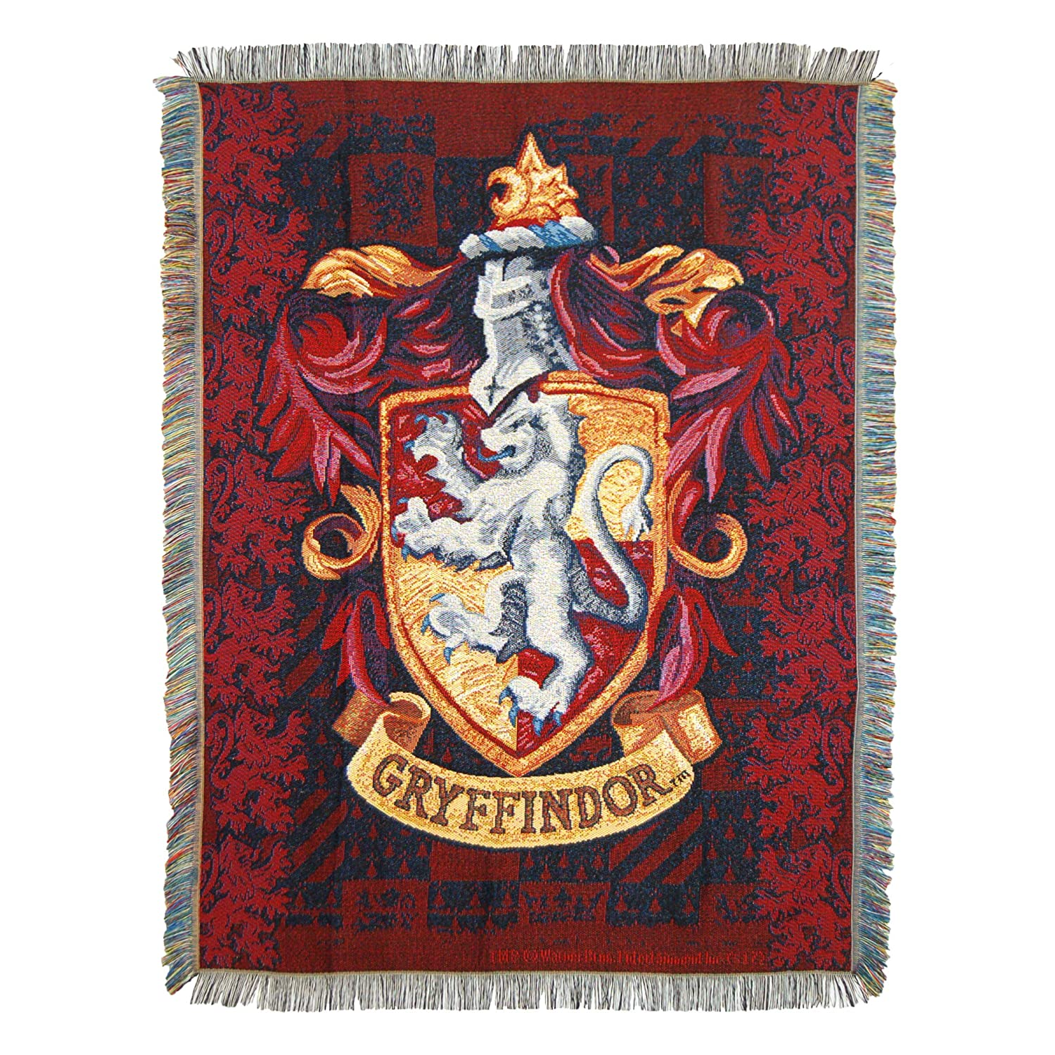 "Harry Potter, ""Gryffindor Shield"" Woven Tapestry Throw Blanket, 48"" x 60"""