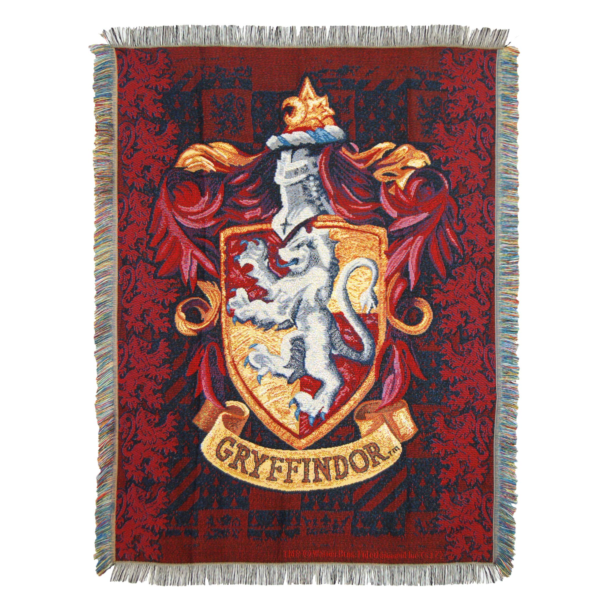 Harry Potter, ''Gryffindor Shield'' Woven Tapestry Throw Blanket, 48'' x 60'', Multi Color by Harry Potter