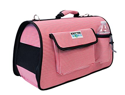 df9b6c35f588 KritterWorld Portable Soft Sided Pet Carrier, Travel Tote Kennel Shoulder  Bag with Storage Pockets for Dog Puppy Cat Small Medium Animals