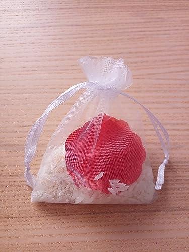 Bolsas de arroz y pétalos para boda (Pack de 20 unidades ...