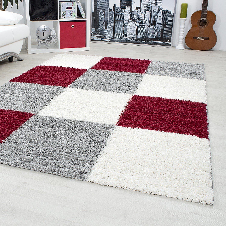 Modern designer rugs & carpets Shaggy long pile carpets square 30 mm pile height 1501, Size:60 cm x 110 cm; color:Black Carpetsale24