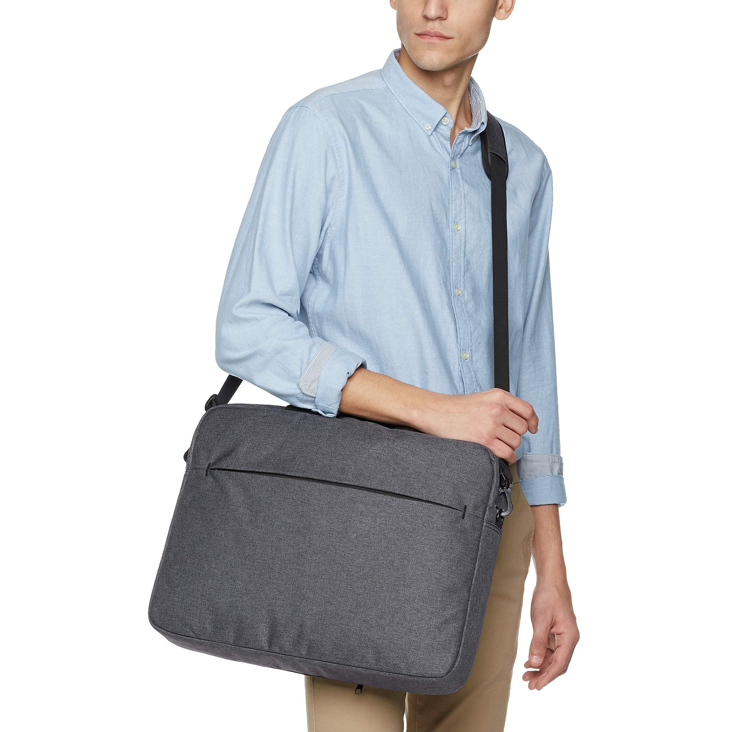 AmazonBasics Urban Laptop and Tablet Case Bag, 17 Inch, Grey by AmazonBasics (Image #8)