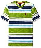 U.S. Polo Assn. Boys' Big Engineered Stripe V-Neck