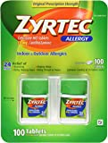 Zyrtec Cetirizine Hcl/Antihistamine (10 mg), 100 Tablets