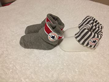 converse baby socks   booties 0-6 months in white 82d5e21738c6