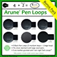 6x Arune Pen Loop - Adhesive pen holders - Designed for Moleskine, journals, planners, sketchbooks, & more