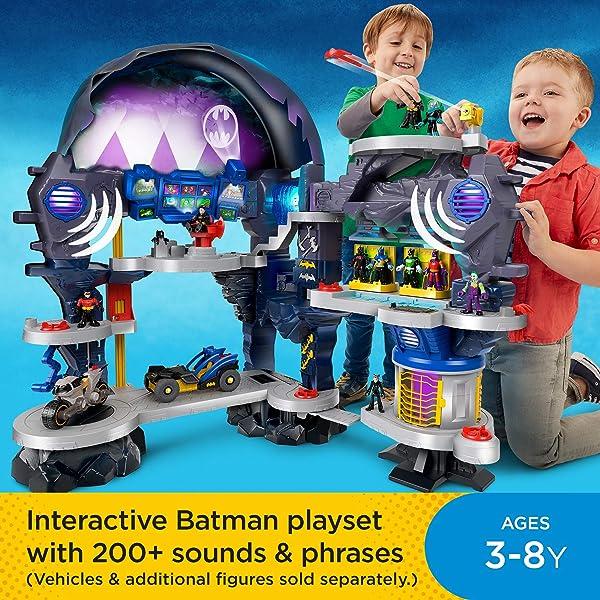 Fisher-Price Imaginext DC Super Friends Super Surround Batcave playset for kids