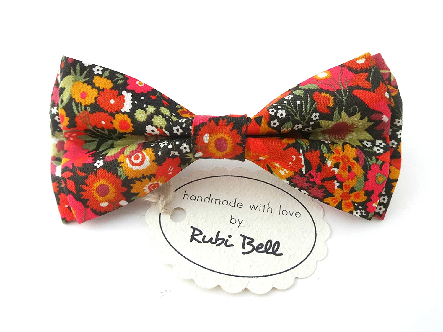 Multicolored floral Liberty London bow tie