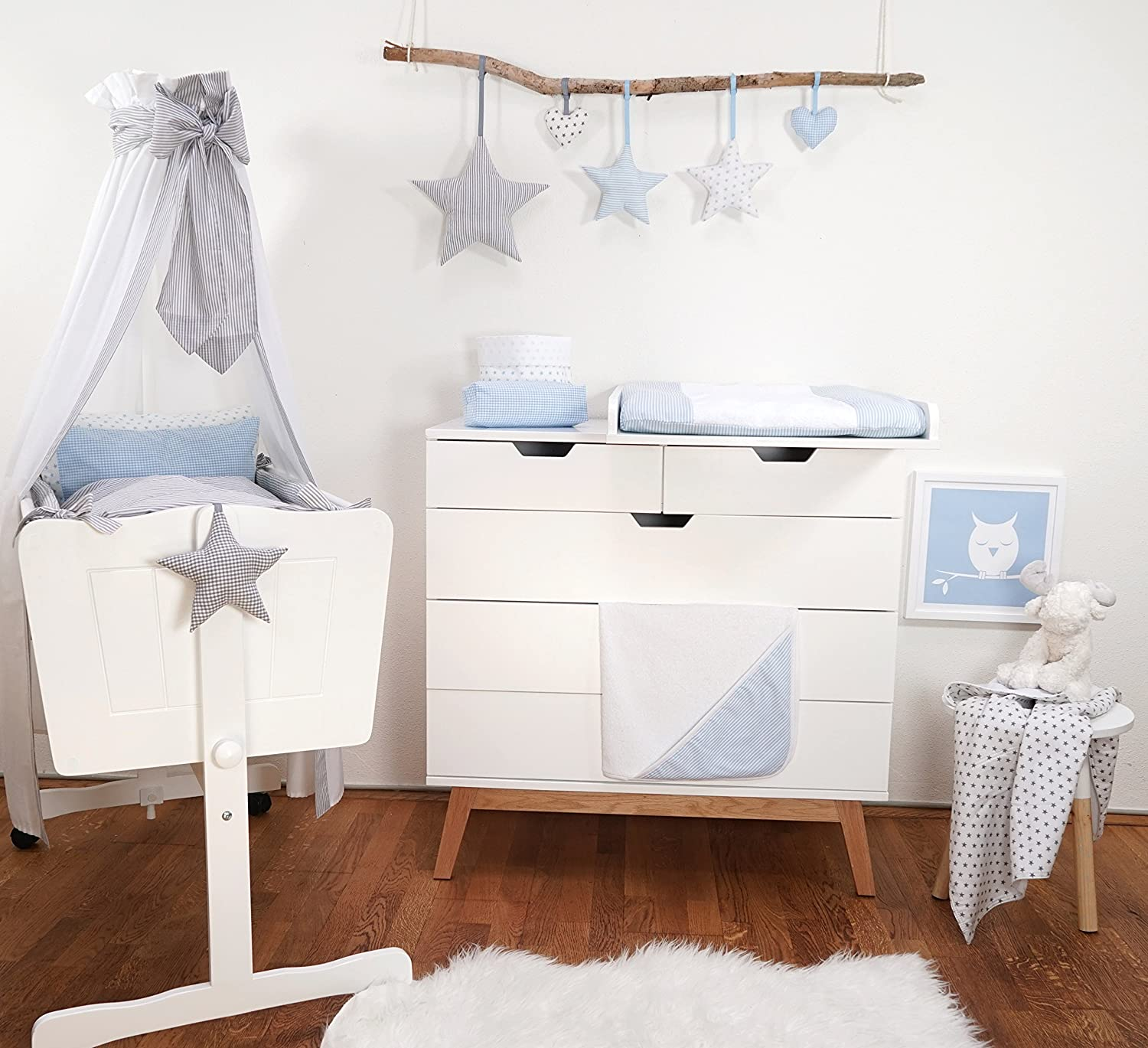 Oeko Tex Standard 100/ Sugarapple Cot Bumper All Round Cot Bumper /& Cot Bumper with over 35/Fabric /Made in Germany l/änge 360/or 420/cm 100/% Cotton/ /For Baby /& Child