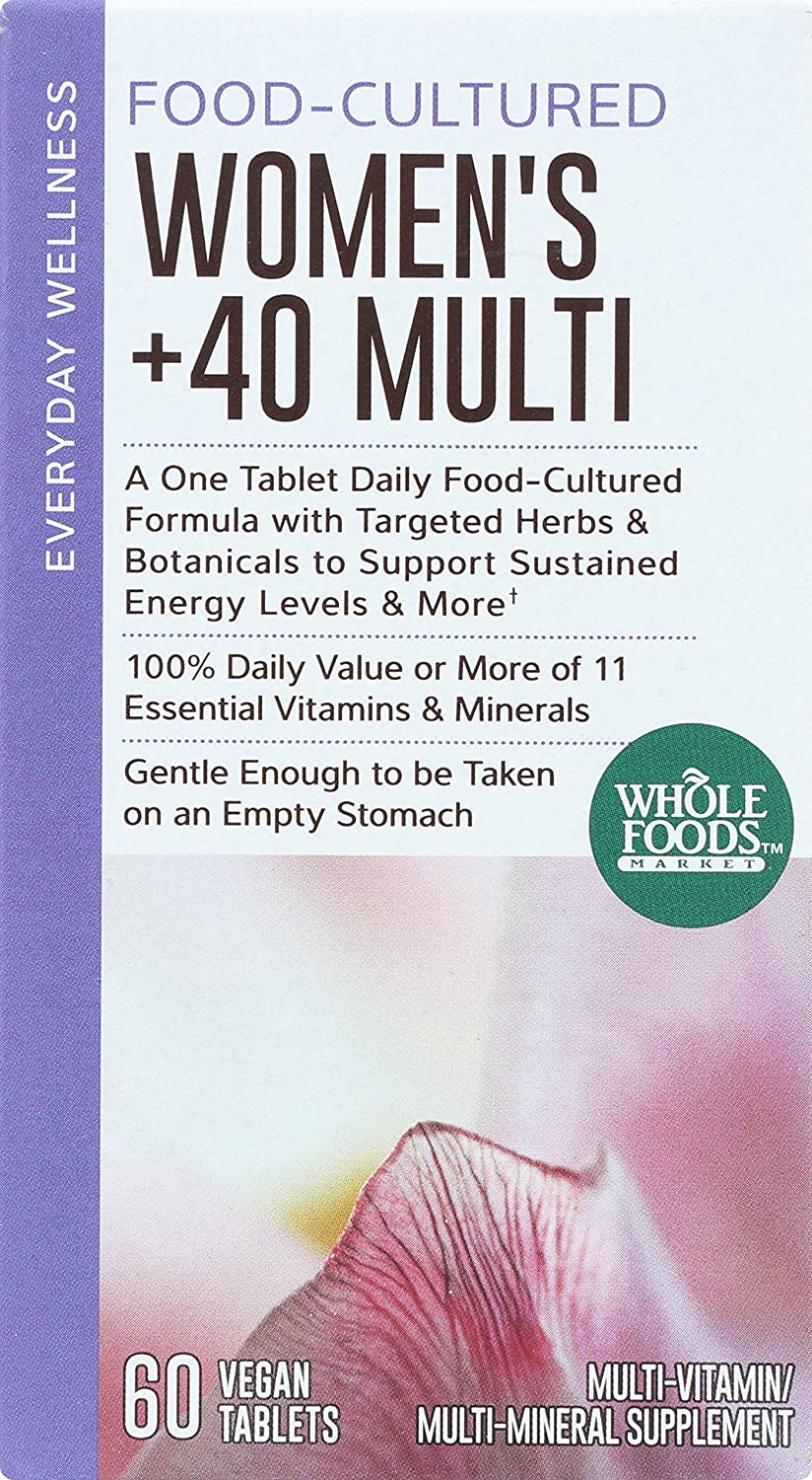 Whole Foods Market, Food-Cultured Women s 40 Multi, 60 ct