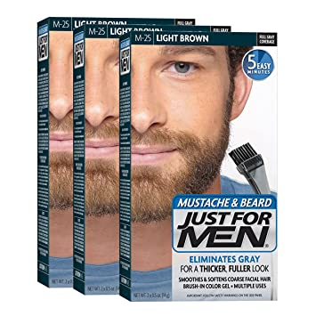 Amazon.com : Just For Men Mustache & Beard Brush-In Color Gel ...