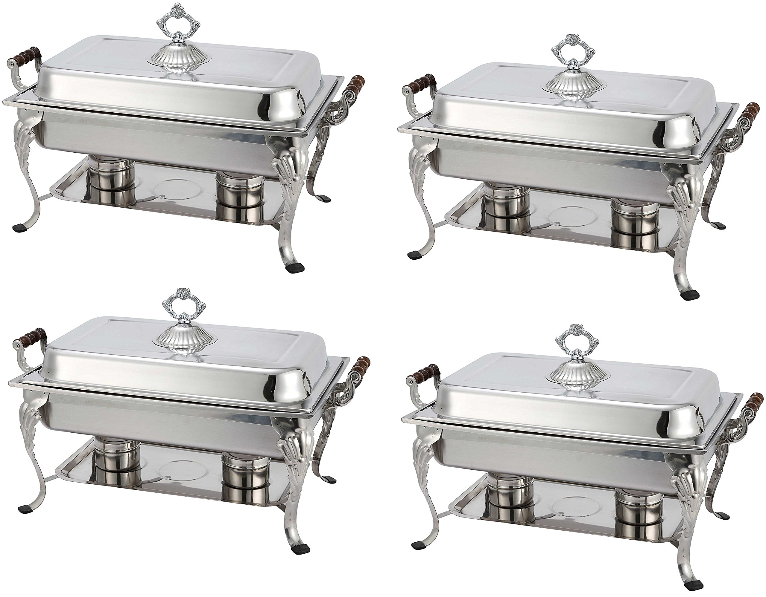 4 Pack Royal Rectangular Crown Chafing Dish Sets Food Warmers 8-Quart $20 Rebate