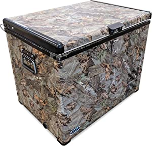 Whynter FM-45CAM 45 Quart Camouflage Edition Portable Refrigerator, AC 110V/ DC 12V True Freezer for Car, Home, Camping, RV-8°F to 50°F, Camoflauge
