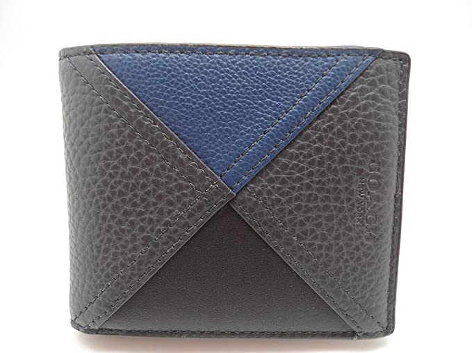 58c80bd945245 Image Unavailable. Image not available for. Colour  COACH 3 in 1 Patchwork  Leather Passcase ID Wallet in Indigo Blue 56599