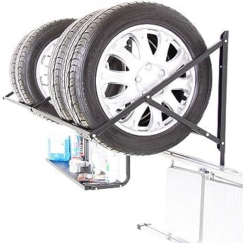 Neumáticos Soporte de neumáticos Soporte estantería para neumáticos Llanta pared montaje 8 x Neumáticos con metal estante gancho: Amazon.es: Coche y moto