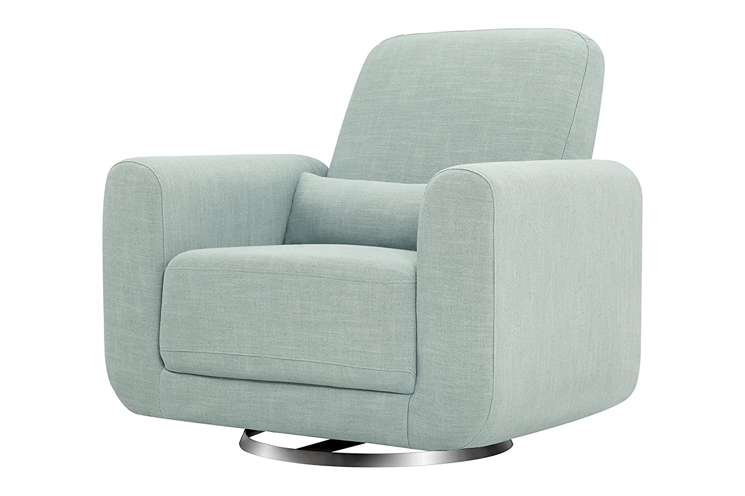Babyletto Tuba Extra Wide Swivel Glider, Winter Grey Weave M10287GV