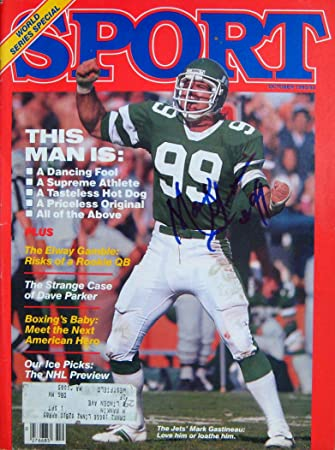 Mark Gastineau NY JETS Autographed SPORT magazine 10 83 at Amazon s ... 39194e25c