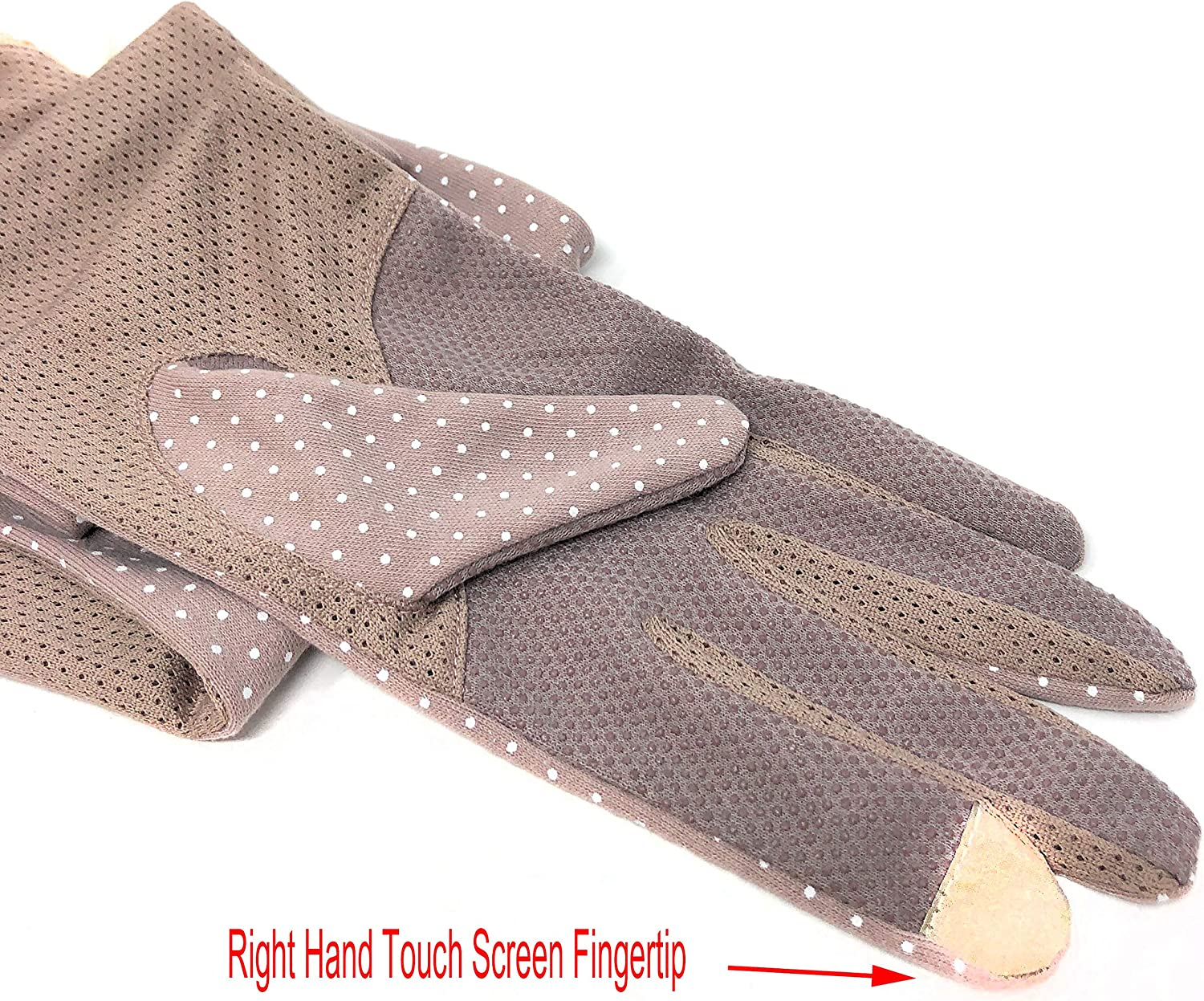 Rusoji 2 Pairs Womens Breathable Anti-UV Sun Block Long Arm Sleeves Touch Screen Driving Gloves
