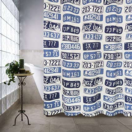 Amazon Park B Smith License Plates Shower Curtain 72 X