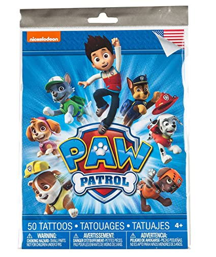 Savvi 50 Temporary Tattoos, Nickelodeons Paw Patrol, 3-pack (150 Tattoos)
