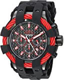 Invicta Men's 'Bolt' Quartz Stainless Steel and Silicone Casual Watch, Color:Black (Model: 23869)