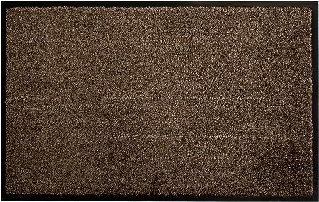 Braun Türmatte Fußabtreter Schmutzfangmatte Türvorleger Matte 90x150