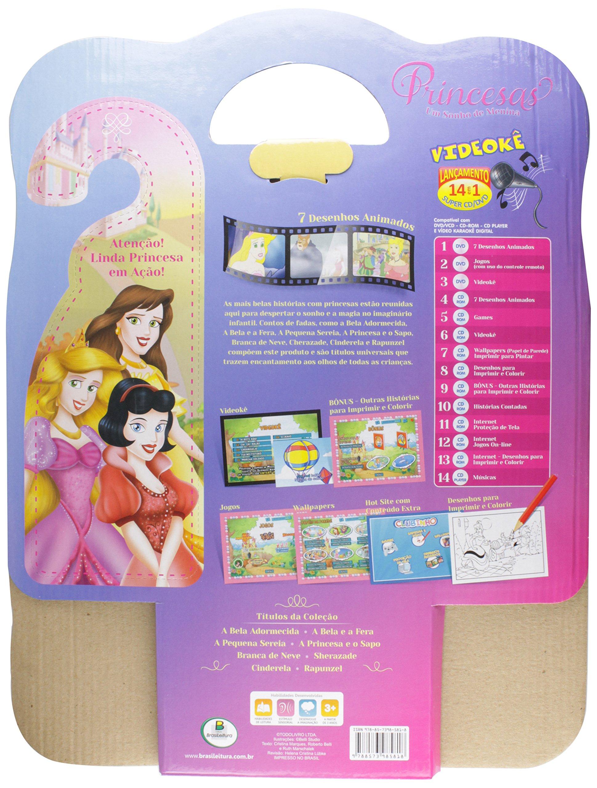 Maleta. Princesas, Sonho De Menina - Kit 10: Vários Autores: 9788573985818: Amazon.com: Books