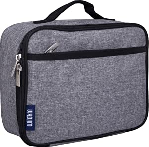 Wildkin Large Insulated Lunch Box for Men and Women, Ideal Size for Packing Hot or Cold Snacks for Work and Travel, Measures 9.75 x 7 x 3.25 Inches, Mom's Choice Award Winner, BPA-free (Grey Tweed)