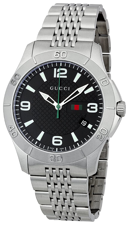 92b13ab3a Gucci 126 G-Timeless Mens Watch YA126218  Amazon.co.uk  Watches