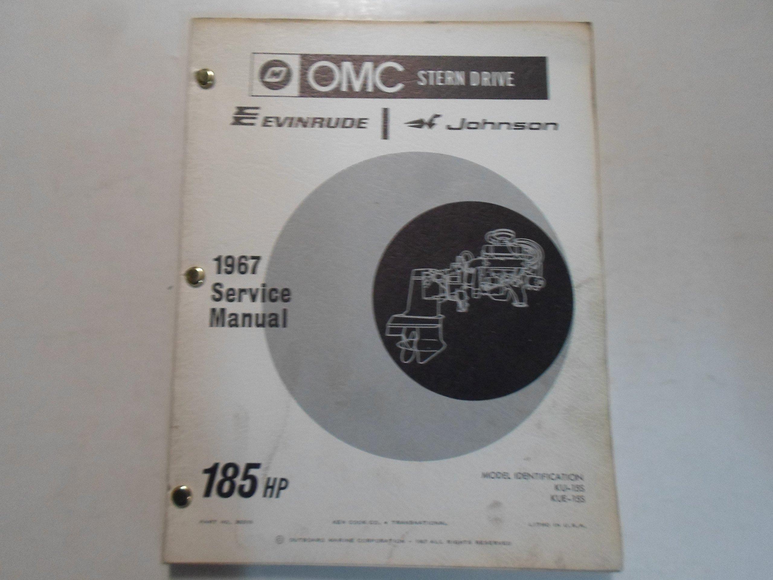 1967 EVINRUDE/JOHNSON OMC STERN DRIVE 185 HP MANUAL: OMC: Amazon.com: Books